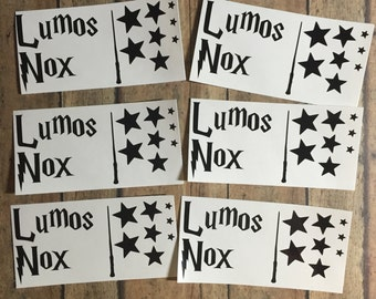Lumos/Nox light switch decal