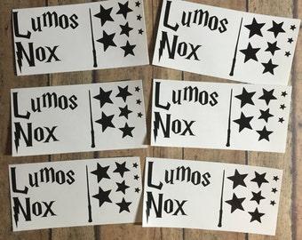 Lumos/Nox light switch decal
