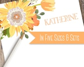 Sunflowers and Tulips Custom Note Pad | Custom Note Pad Available in 5 sizes and as a Set