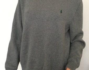 Polo Sweater Gray Ralph Lauren