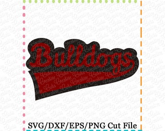 EXCLUSIVE SVG eps DXF Cutting File Bulldogs svg, sports svg, team svg, bullldogs cutting file, baseball svg, bulldogs cut file