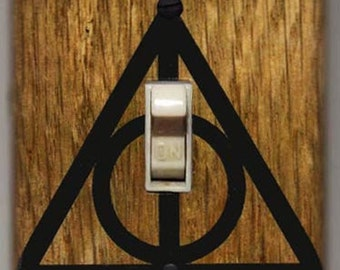 Harry Potter Light Switch Cover Plate - Lumos Nox FREE SHIPPING