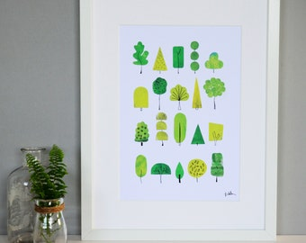 SALE! Green Nature Print