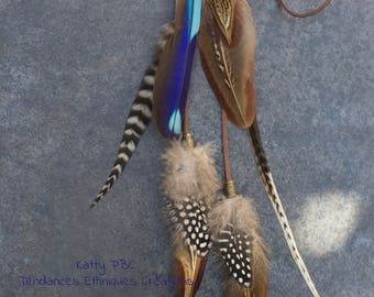"Jewel of hair feathers "" Asha """