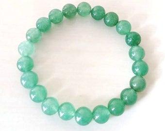 Green Aventurine Zen Stretch Bracelet