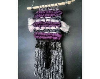 Woven loom Tapestry Wall Hanging Tissage