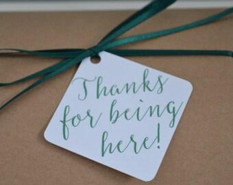 50 Thank You Tags, Favor Tags, Wedding, Bridal Shower, Custom