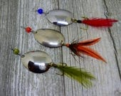 RESERVED LISTING - Up-cycled Spoon Fishing Lures, set of 3.