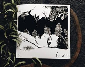 Plutonian Absence, Lunaria - print