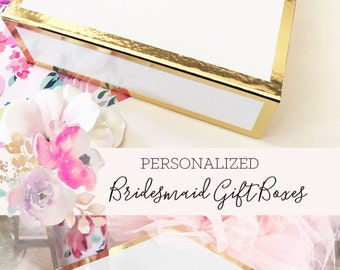 Bridesmaid Box Personalized Bridesmaid Gift Box Wedding Keepsake Box Custom Bridesmaid Gift Box (EB3171BPW) PERSONALIZED EMPTY BOX