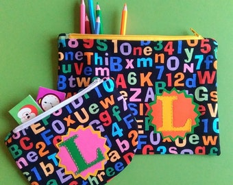 Perfectly Practical, Personalised or Plain,  Pencil case and/or Purse. Made to Order.