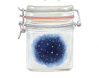 starry night in a jar