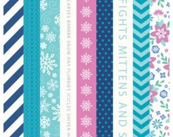 SALE! Winter Wonderland Washi Tape Booklet From Pebbles