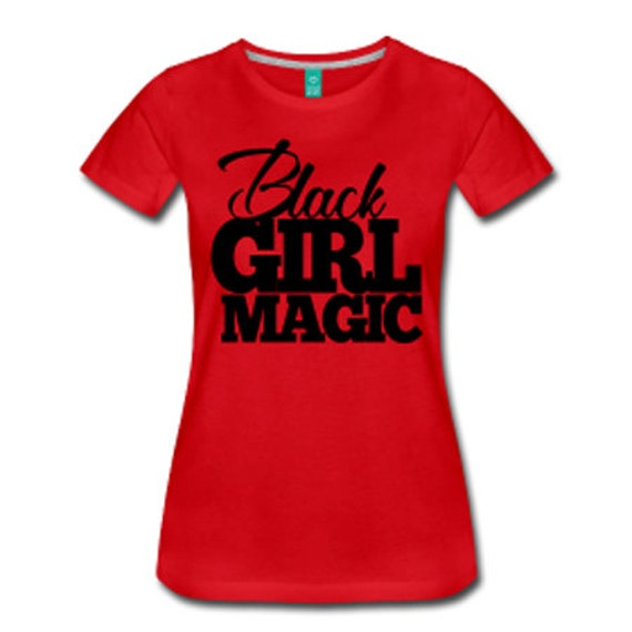 Black Girl Magic Fitted T-Shirt - Red
