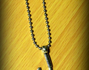NEW! Large Fish Hook Pendant with chain - Free Shipping!