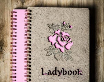 "Ladybook ""Rose"", A5 Wooden Sketchbook / Notebook"