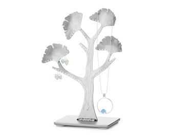 Ginkgo Jewelry Tree jewelry organizer - Earring trees – metal jewelry holders – metal maple leaf ring box tree – earring holder tree storage