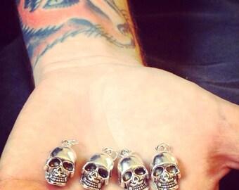 Silver Tone Skull Pendant