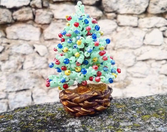 Beaded Christmas trees of different height, New Year gift, Christmas gift, seed bead tree, artificial Christmas tree, Colorado blue spruce