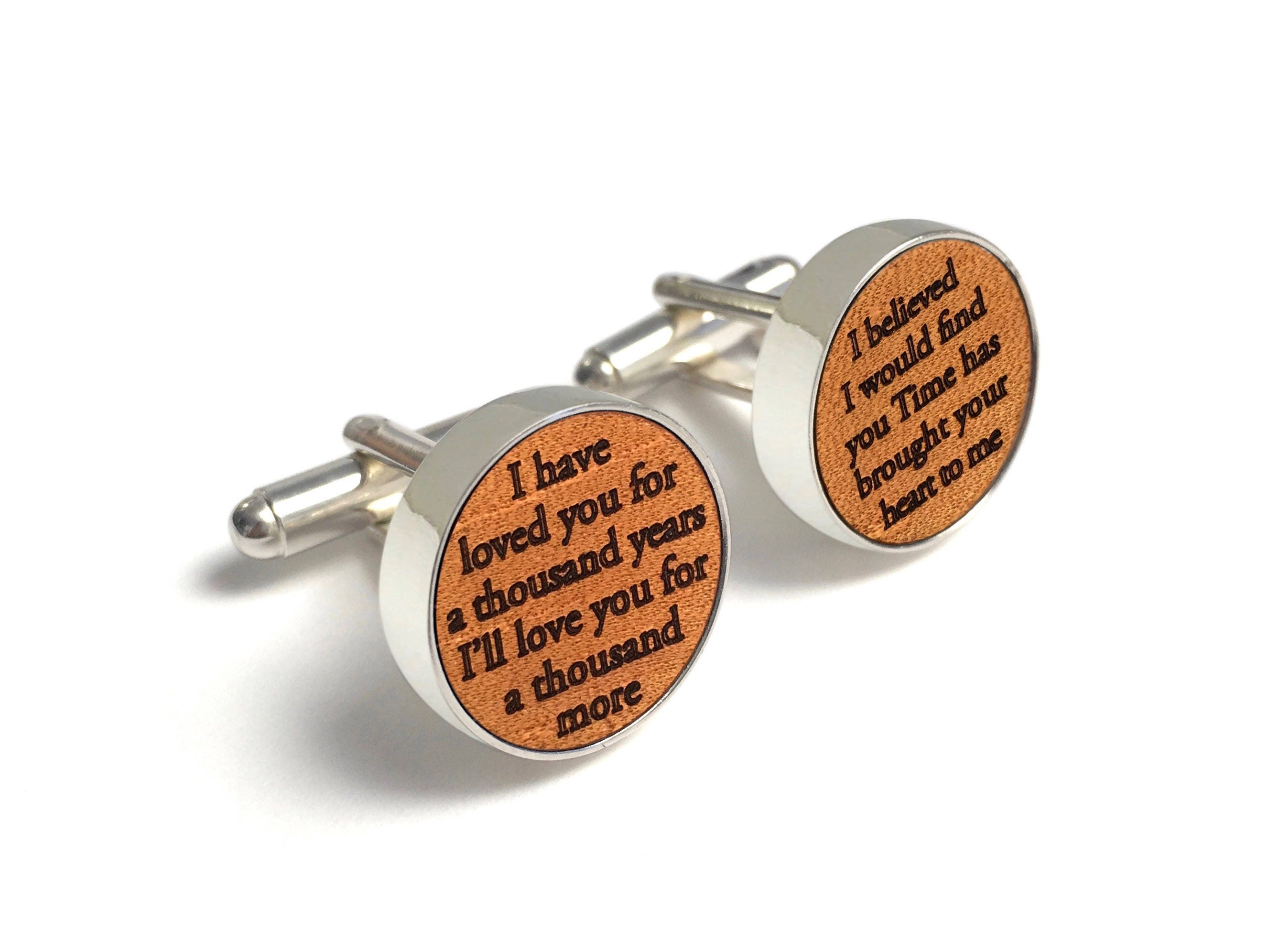 Custom Wedding Song Cufflinks / 3rd Wedding Anniversary Gift ...