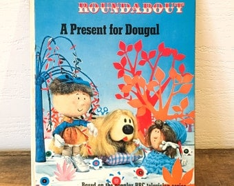 Vintage Magic Roundabout Children's Book - A Present for Dougal - Illustrated Kids Books - Storytime - Bedtime Stories