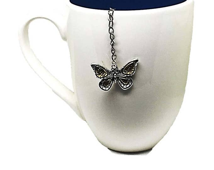 Unique Handmade Butterfly Tea Infuser | Faith and Hope Mesh or Metal Ball Tea Strainer | Tea Ball for Butterfly Lover | Unique TeaBall