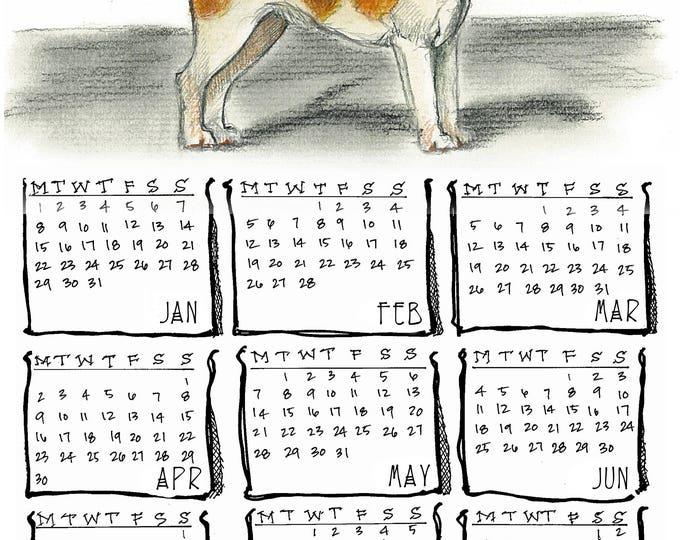 Beagle 2018 yearly calendar