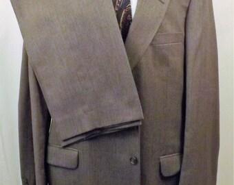 Vintage 70s St Michael Mens Gray Wool Blend Suit Size 42L