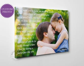 Personalized fathers day present father and daughter quote art gift for dad custom gifts for dad daddy art, rockincanvas
