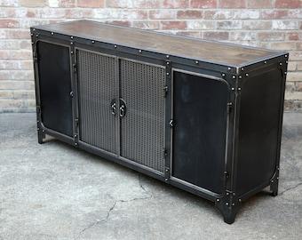 modern industrial sideboard steel buffet cabinet kitchen storage wine credenza steel u0026