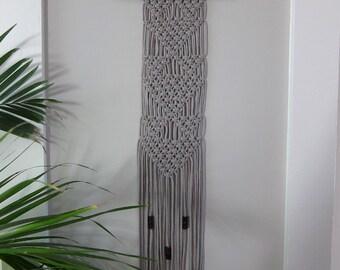 narrow wall hanging etsy. Black Bedroom Furniture Sets. Home Design Ideas
