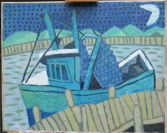Boat Painting