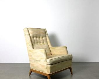 Rare Vintage T.H. Robsjohn Gibbings Widdicomb Tall Lounge Chair 1950's