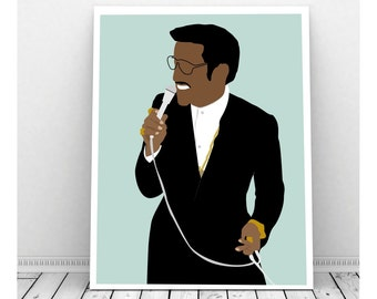 Sammy Davis Jr, Instant Download, Downloadable Art, Famous People, Music Artwork, Music Print, African American, The Rat Pack, 60s Decor