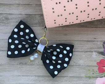 Black and White Polkadot Planner Charm and Polkadot TN Planner Charm
