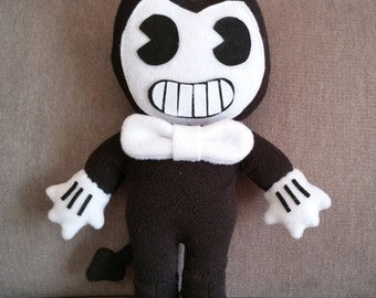 "Handmade Bendy plush (unofficial)from ""Bendy and the ink machine"" horror game,markiplier,horror game plush,bendy soft toy,bendy doll,bendy"