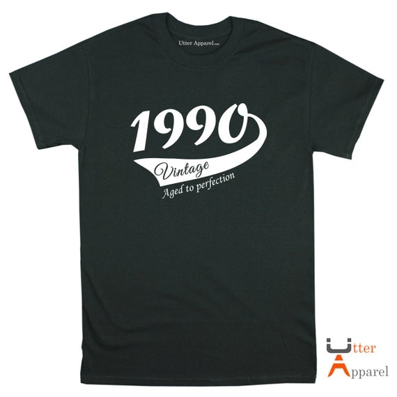 27th Birthday gift for woman or man 1990 size S-2XL, various styles, colours to choose from