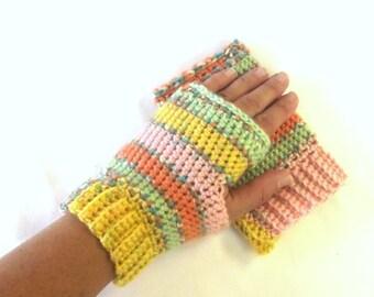 Winter Gloves - Fingerless Gloves - Hand Wrist Warmer - Driving Glove - Handmade Gloves -  Fall Glove - Fingerless Mitten - Womens Accessory