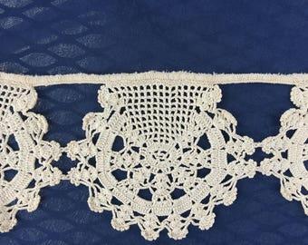 """20"""" Antique lace crochet trim vintage"""