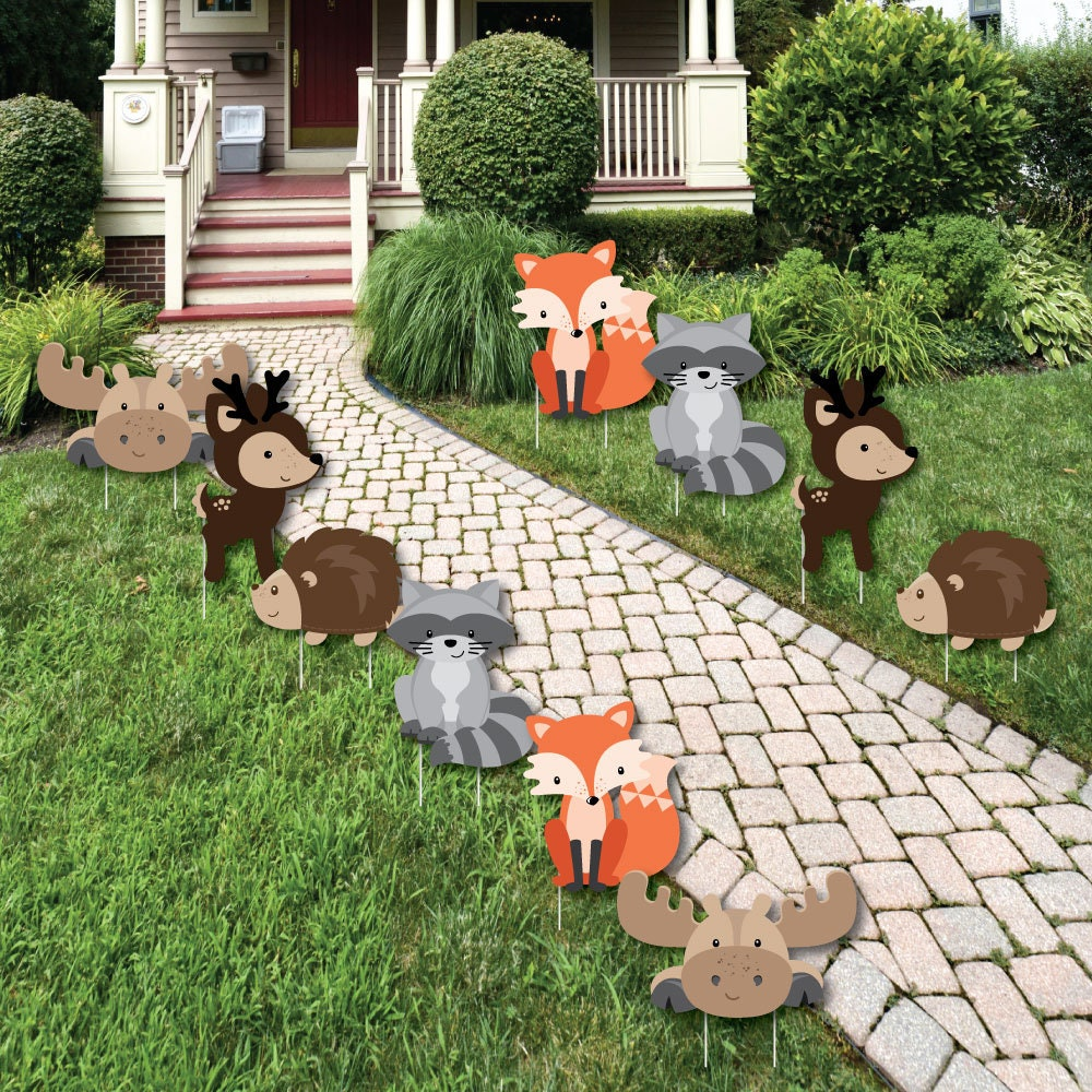 Woodland creatures lawn decorations woodland animals for Animals decoration