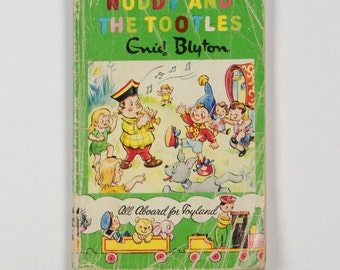 Noddy and the Tootles - 1962 vintage children's book by Enid Blyton - Book No 23