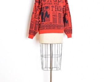 Newspaper sweater | Etsy