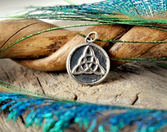 Triquetra Charm ~ Sterling Silver ~ Celtic Knot ~ Trinity Charmed