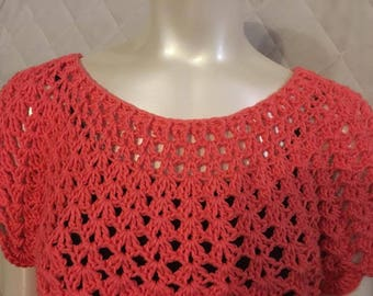 crochet tunic size large