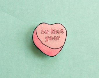 Valentine's Candy Heart pin