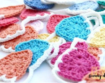 """Mini Crochet Bunting - """"Brights Collection"""" - Ready to Ship"""