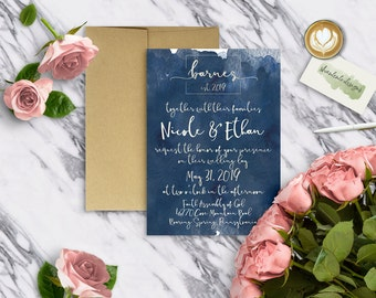 WATERCOLOR|Wedding Invitation Set #0370