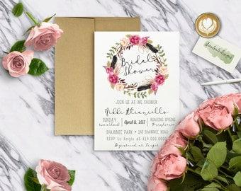 FLORAL|Bridal Shower Invitations #1