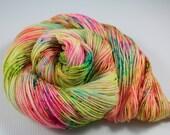 I Slapped Ouiser Boudreaux! READY TO SHIP 100g 400yd 2 ply Sock / Fingering Yarn 80/20 Sw Merino Wool / Nylon- Steel Magnolias - Neons