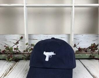UZI  Baseball Hat Low Profile Embroidered Baseball Caps, Dad Hats, Navy Blue